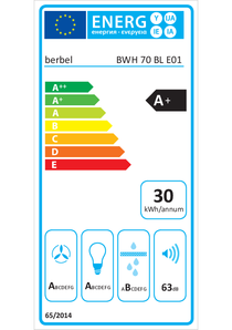 Energy-label berbel BWH 70 BL