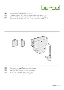 Manuel d'utilisation et de montage – Commutateur de contact de fenêtre radio BKF DL