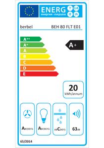 Energy-label berbel BEH 80 FLT