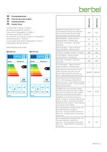 Fiche de données produit berbel BEH 60/90 FLU