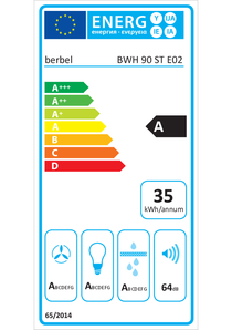 Energy-label berbel BWH 90 ST