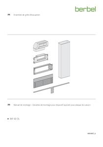 Manuel de montage – Variantes de montage pour dispositif aspirant pour plaque de cuisson berbel Downline Ensemble de grille d'évacuation