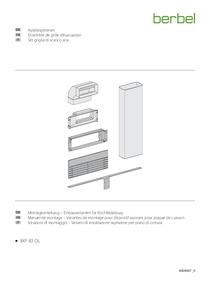 Manuel de montage – Variantes de montage pour dispositif aspirant pour plaque de cuisson berbel Doenline Ensemble de grille d'évacuation