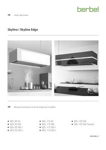 Manuel d'utilisation et de montage des modèles hotte décorative SK/SKE/SKE-I/SKE-L/SKE-S