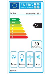 Energy-label berbel BWH 80 BL