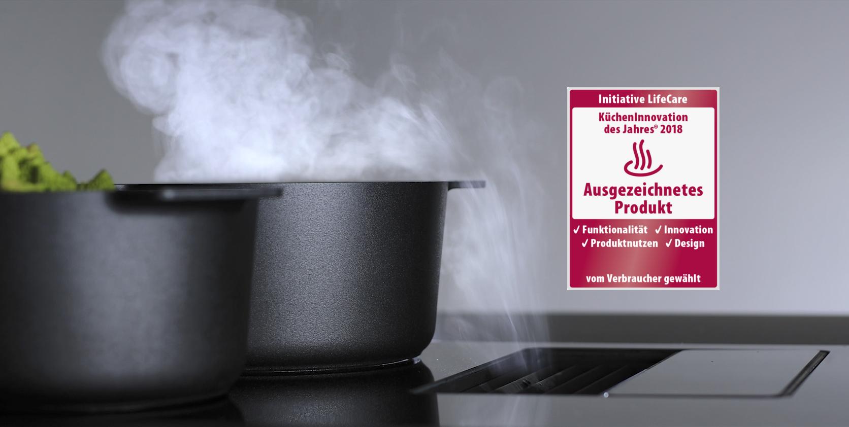 Hotte pour plaque de cuisson berbel Downline récompensée