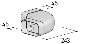 Système 125– <strong>coude 90° horizontal</strong>