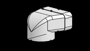 Système 125 – <strong>déflecteur 90° sur plat</strong>