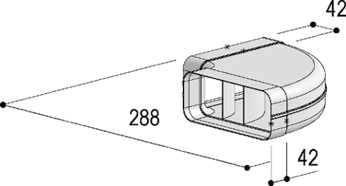 Système 150– <strong>coude 90° horizontal</strong>