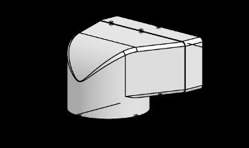 Système 150 – <strong>déflecteur 90° sur plat</strong>