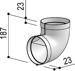Système 125– <strong>coude 90°</strong>